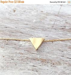 A petite tiny beautiful #triangle #gold filled necklace pendant . Very tiny necklace elegant and cute, a perfect gold necklace for every day wear.  Simple, dainty and classic... #etsy #styles #fashion #shopping #jewelry
