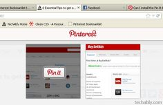 Pinterest bookmarklet to quickly pin anything to your Pinboards