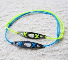 Sea kayak silver bracelet – oxidized silver, neon yellow, by Veró Lázár. for kayakers and sea lovers! Handmade. You can have it if you order it from Vero's webshop. kayak accessories