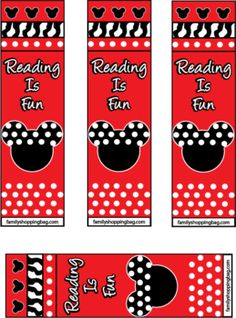 Mickey Bookmarks, Mickey Mouse, Bookmarks - Free Printable Ideas from Family Shoppingbag.com
