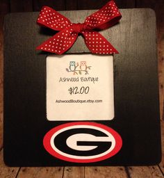 University of Georgia Red and Black Frame