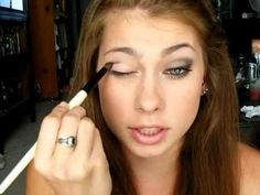 How To Wear Makeup With Glasses! | I liked her tip about applying the crease lower down to keep the color from appearing above the frames...that's a big problem for me.