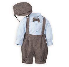 All Aboard Infant Knicker Set & Driver's Cap