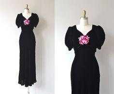 Affair d'Coeur dress  vintage 1930s dress  silk by DearGolden