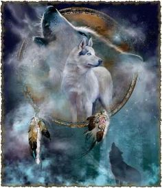 Spirit of the Wolf...By Artist Carol Calavaris...
