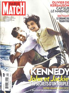 John & Jackie Kennedy in French Paris Match magazine Movie Magazine, Paris Match, Drame, Jackie Kennedy, Couple, He's Beautiful, Jfk, Love Story, First Love