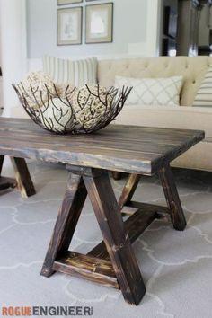 Sawhorse Coffee Table Free DIY Plans