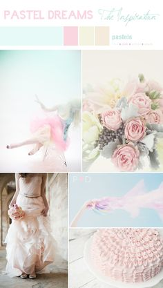 Bridal Inspiration Board: Pastel Dreams {Featured on Love My Dress Blog} on http://www.pocketfulofdreams.co.uk