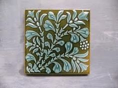teal and olive tile