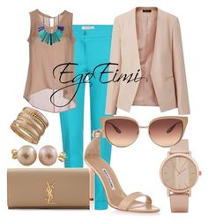 """""""Cool Neutral"""" by mesha-echevarria on Polyvore"""