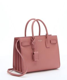 f8e4434e05 Love this by SAINT LAURENT Pink Leather 'Baby Sac De Jour' Convertible Tote  -