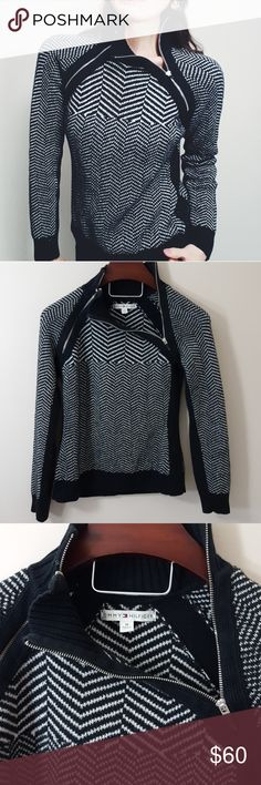Tommy Hilfiger turtleneck zippered sweater -B6 In excellent condition! Adorable Tommy Hilfiger zippered turtlenck sweater, size medium. Soft material! Used item: pictures show any signs of wear. Inspected for quality and wear! Bundle up! Offers always welcome:) Tommy Hilfiger Sweaters