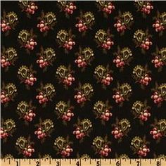 'The Cocheco Mills Collection Fluted Floral Black