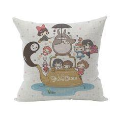 Nunubee Karikatur Geschenk Kissenbezug Dekoration Kissen accessory für Haus und Auto Studio Ghibli