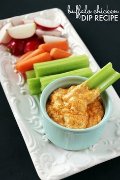 Buffalo Chicken Dip! The Perfect Game Time or Party Dip Recipe for Football Games or for the Holidays!