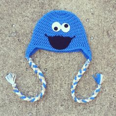 Cookie Monster Hat https://www.facebook.com/OffTheHookCraftiness