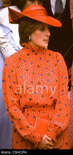 Lady Diana Spencer at the wedding of Prince Charles' friend, Nicholas Soames to Catherine Weatherall on June 4, 1981