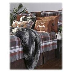 Grand Teton Collection Plaid Comforter Set - 5-piece Set - Queen