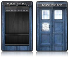 Kindle Fire - Doctor Who Tardis skin. Thats. Awesome.... damn why didn't i get a Kindle Fire :(