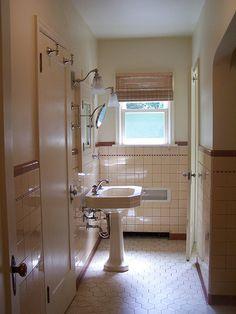 Original 20s Tudor bathroom tiles. I just love vintage tile.