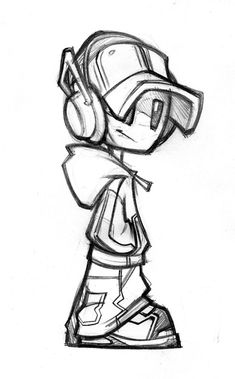 Robot mascot design sketch Best mascot design ideas for companies: affordable, unique, professional freelance mascot designer since I create eye catching mascot characters, mascot design and mascot logos for web and print. Graffiti Pictures, Graffiti Artwork, Graffiti Drawing, Street Art Graffiti, How To Draw Graffiti, Graffiti Tattoo, Graffiti Doodles, Graffiti Cartoons, Graffiti Characters