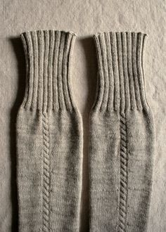 Whit's Knits: Little Cable Knee Highs - Knitting Crochet Sewing Crafts Patterns and Ideas! - the purl bee