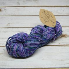 Free Ship USA Hand Dyed Yarn Sock Weight Raspberry Sparkle gold stellina