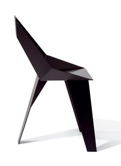 Axiome Chair In Black   Aluminium, Powder Coated Size: 85 X 52 X 50