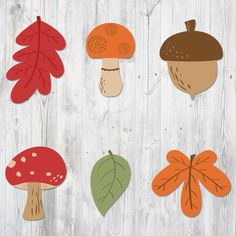 Printable Banner Autumn, Garland Leaves Mushroom Acorn, Nursery Banner, Nursery Decoration, Party De