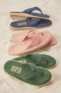 Handmade in Hawaii, these suede flip flops are comfy and cute.