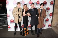 Joel Amey, Ellie Rowsell, Joff Oddie and Theo Ellis of Wolf Alice attend the annual NME Awards at Brixton Academy on February 26, 2014 in London, England. - 40 of 70