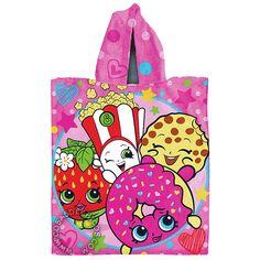 #Poncho de #Toalla #Shopkins #Piñata #Original #Food #Comida #PopCorn #Coockie #Donuts #Fruit #CosasDeChicos #Collection #Moda #Infantil #Accesorio #Indumentaria #Baño