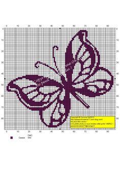 Papillon-Contours-Violet (Purple Butterfly Outline), designed by Le blog de Passionbroderie77 blogger, Corinne Thulmeaux.