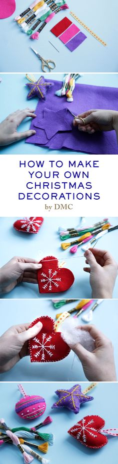 How to make your own Christmas decorations. www.dmc.com