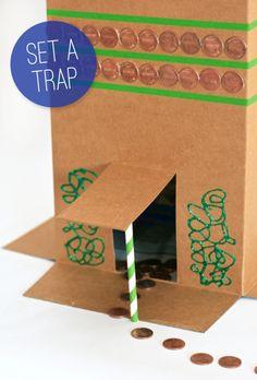Fun St. Patricks Day Tradition - Set a Leprecahun Trap. See how at PagingSupermom.com #stpatricksday #leprechaun #kidscrafts
