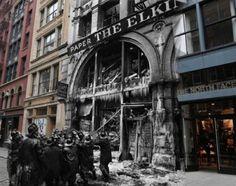 Fenomenales fotografías de sucesos históricos de Nueva York superpuestos sobre imágenes actuales