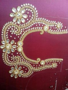 Heavy work of kundan.. get it for bridal saree http://mytailor.in/