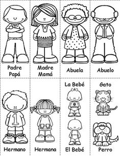 Spanish Family / Familia Pack by SpanishSpot Spanish Language Learning, Teaching Spanish, Family Activities, English Activities, Listening Activities, Elementary Spanish, Elementary Schools, Family Tree Worksheet, All About Me Preschool