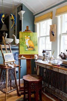 Lauren Decatur & her studio are featured in the Feb/Mar/Apr '14 issue of Where Women Create magazine #artist #studio #wildlife | Photography by Rikki Snyder