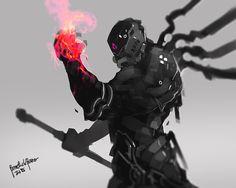 ArtStation - Gallahad of the Flame, Benedick Bana Arte Ninja, Arte Robot, Cyberpunk Character, Cyberpunk Art, Character Concept, Character Art, Character Design, Armor Concept, Concept Art