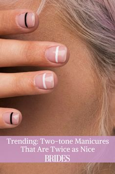 Trending: Two-Tone Manicures That Are Twice as Nice