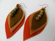 Felt earrings via Etsy