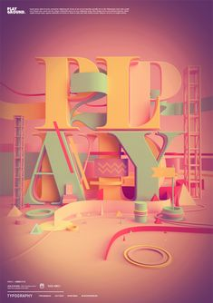 Playground Typography Poster by Peter Tarka
