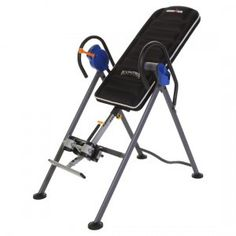 """Ironman """"I-Control"""" 500 Disk Brake Inversion Table with Air Tech Back http://ultimateinversiontable.com/"""