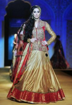 Ashima Leena at Indian Bridal Fashion Week 2013 https://www.facebook.com/stylettosbride http://stylettosbride.blogspot.in/   #bridal #lehenga #couture #indianweddings #Indianethnic #Indian