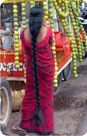 New Images 1'st: Indian woman with long and thick hair.