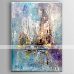 mano la pintura abstracta pintura al óleo pintada con estirado enmarcado listo para colgar 2016 – $83.39