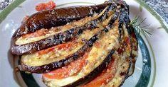 Mira qué forma más original de presentar unas berenjenas cocinadas al horno. Una idea de RECETAS ITALIANAS EN ESPAÑOL.