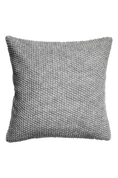 Moss-knit cushion cover: Cushion cover in a soft moss knit containing some wool with a solid colour back in a cotton weave and a concealed zip.