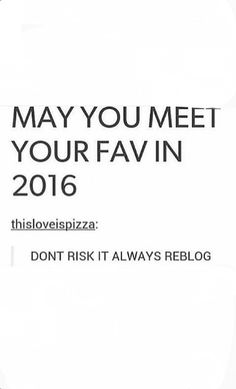 Don't risk it!